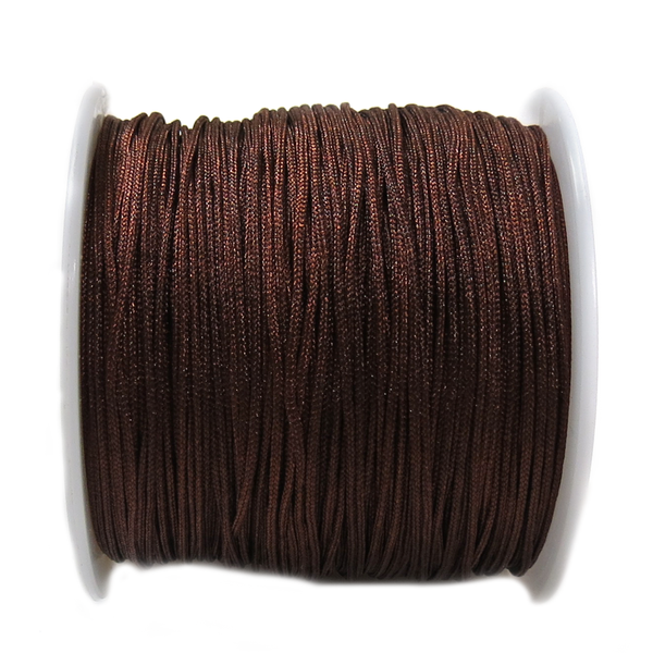Nylon Cord, 1mm- Brown; 60yards