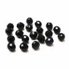 Jet, Round Faceted Fire Polished Beads- 12mm; 20pcs