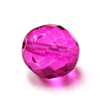 Magenta, Round Faceted Fire Polished Beads- 12mm; 20pcs