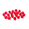 Ruby, Round Faceted Fire Polished Beads- 10mm; 20pcs