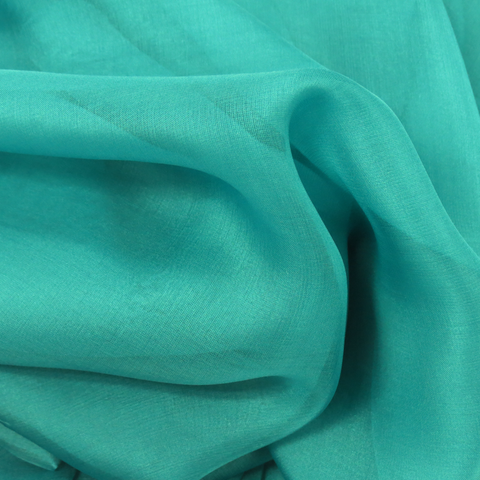 "Aqua Silk Chiffon Fabric, 54"" Wide- 1 Yard"