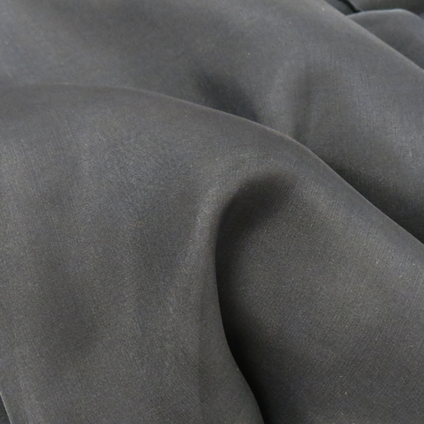 "Black Silk Chiffon, 54"" Wide- 1 Yard"