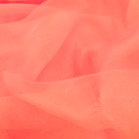 "Coral Silk Chiffon, 54"" Wide- 1 Yard"