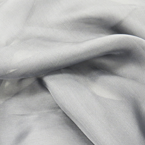 "Dark Grey Silk Chiffon, 54"" Wide- 1 Yard"