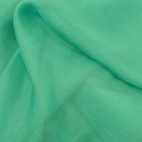 "Emerald Silk Chiffon, 54"" Wide- 1 Yard"