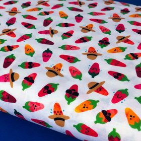 Mini Chilis- 100% Cotton Print Fabric, 44/45