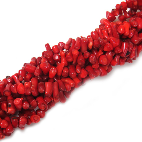 Coral Chips Beads, 10x5mm - 1 strand