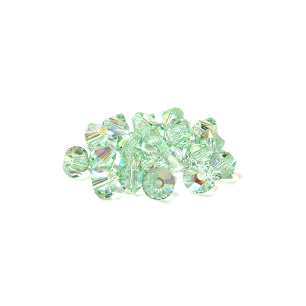 Swarovski Crystal, Bicone, 5MM - Chrysolite AB; 20pcs