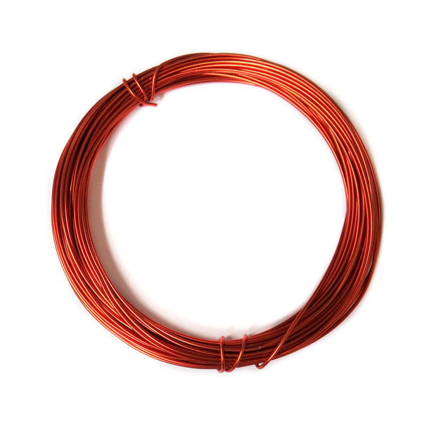 Aluminum Wire, Copper Red, 2mm, 5 yard roll; 1 roll