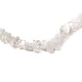 Crystal Quartz Chips, 10x6mm, 36 inches per strand - 1 strand