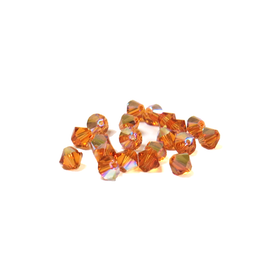 Swarovski Crystal, Bicone, 4mm - Crystal Astral Pink AB; 20 pcs