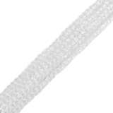 Crystal Clear, Round Faceted Crystal, 4mm; 1 strand