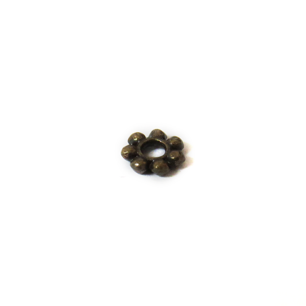 Daisy Spacer, Antique Bronze, 4mm; 50 pieces