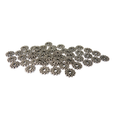 Daisy Spacer Beads, Silver 8mm; 50 pieces