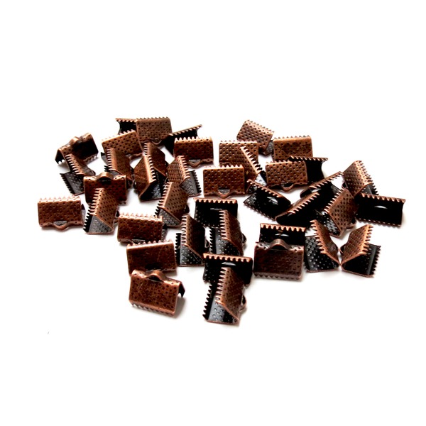 Iron Ribbon Ends, Copper-7x5mm; 40pcs