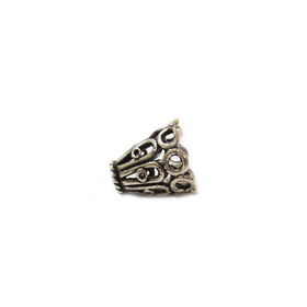 Cone Shaped End Cap, Sterling Silver,11x10mm - 1 piece