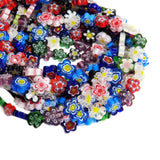 Flower Millefiori, Multicolor, 14mm, 1 strand
