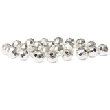 Faceted Spacer, Silver Plated Brass, 8mm; 20pieces