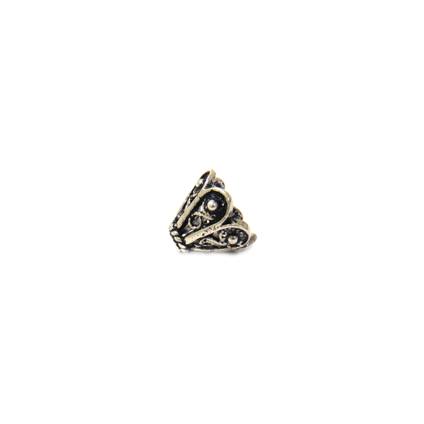 Small Fancy Cone Shaped End Cap, Sterling Silver, 6x8mm - 1 piece