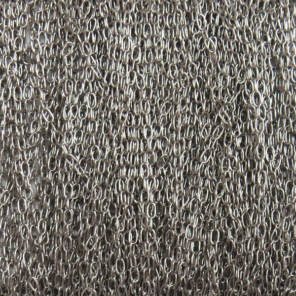 Figaro Cable Chain, 1.2 mm; Silver - 1 Foot