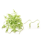 Fish Hooks, Brass- Metallic Green; 40pcs