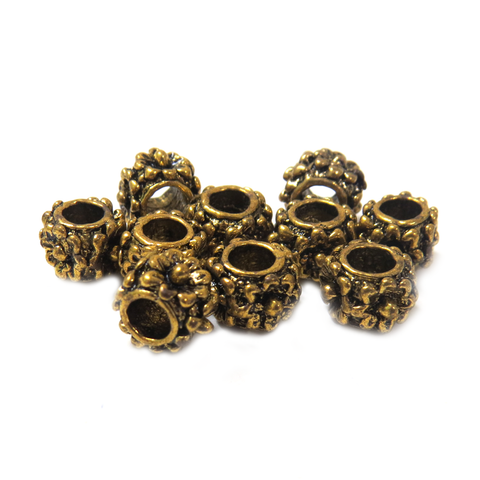 Flower Spacer, Gold, 8x6mm - 10 Pieces