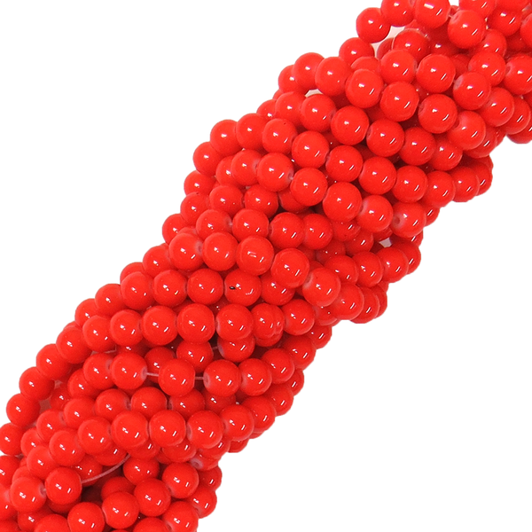 Glass Pearl- Coral