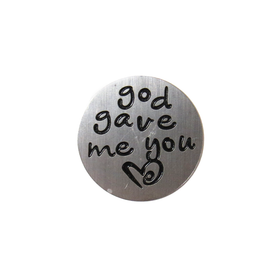 God Gave Me You Screen, Zinc Alloy - Antique Silver