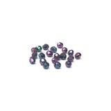 Purple  Irish, Round Faceted Fire Polished Beads-6mm; 20 pcs