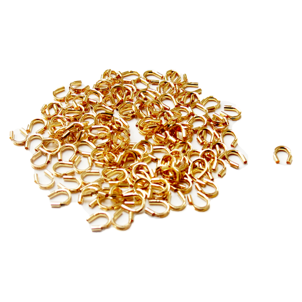 Wire Protectors, Gold Plated- 4.5mm; 100pcs