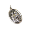 Holy Family Italian Charm, Antique Silver, 25x16mm - 1 piece