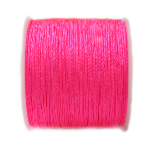 Nylon Cord, 1mm-Hot Pink; 60yards