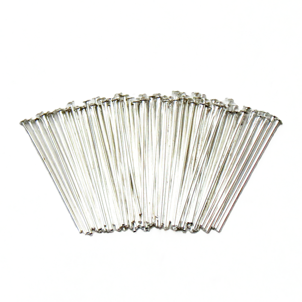 "Headpin, Silver Plated Brass-1"" approx.; 100pcs"