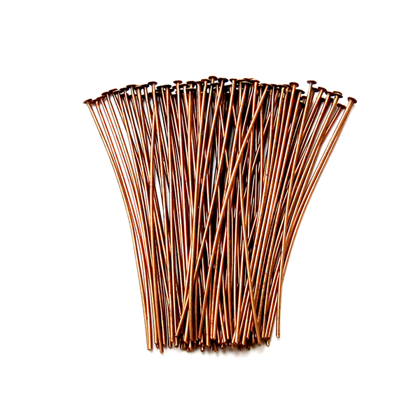 Headpin, Brass Red Copper Color- 2inches; 100pcs