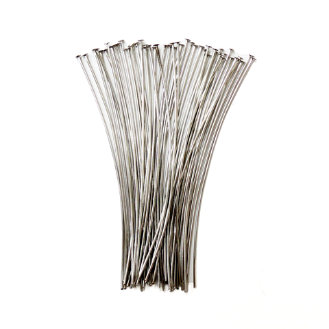 Headpin, Brass Platinum Color- 2.7inch; 50pcs