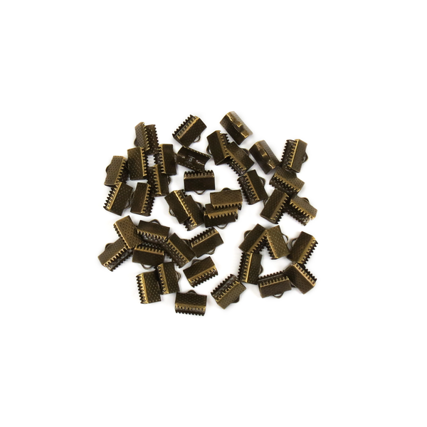 Iron End Cord, Bronze, 5mm; 40 pieces