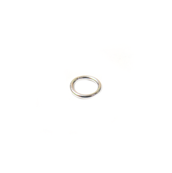 Jump Ring Closed, Sterling Silver, 6mm; 1 piece
