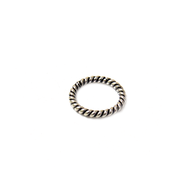Corrugated Jump Ring Closed, Sterling Silver, 10mm; 1 piece