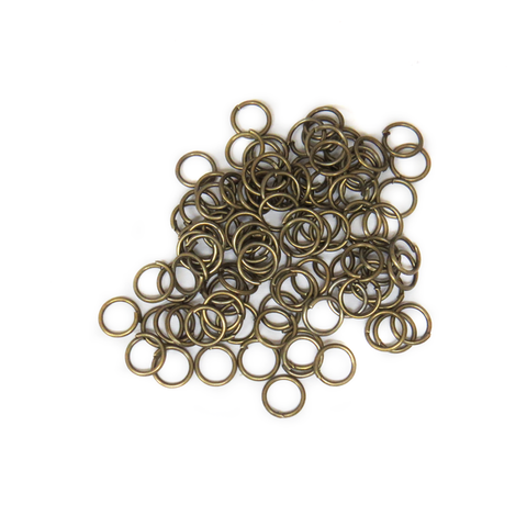 Jump Rings, Antique Bronze, 6mm; 100 pieces