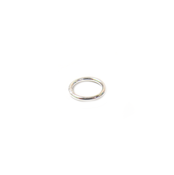 Jump Ring Closed, Sterling Silver, 8.5mm - 1 piece