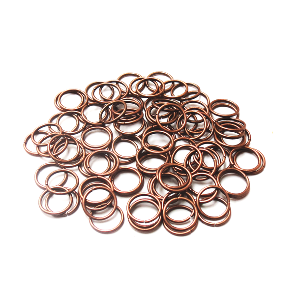 Jump Rings,Iron Copper Color-10mm; 100pcs