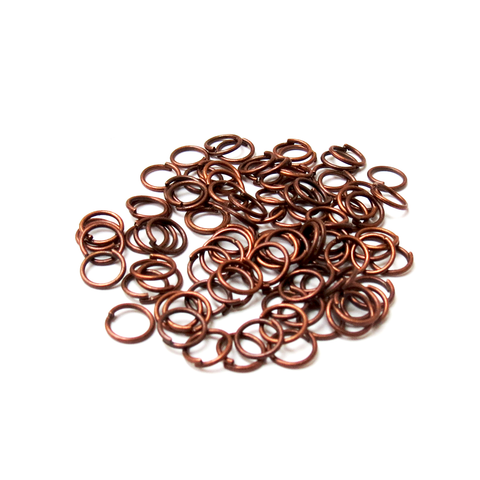 Jump Ring Iron, Copper-6mm; 100pcs