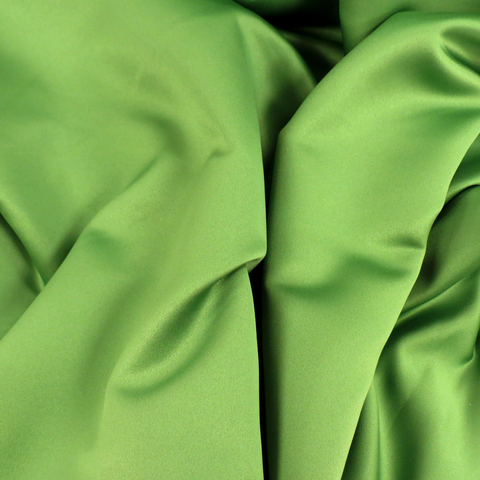 "Chartreuse Green, Polyester Peau de Soie, 54"" Wide- 1 Yard"