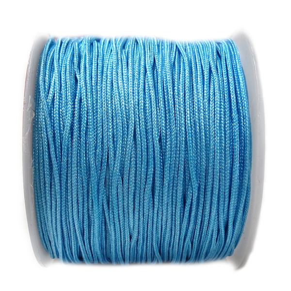 Nylon Cord, 1mm- Light Blue; 60yards