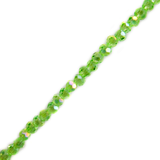 Light Green AB, Round Faceted Glass Bead, 3mm; 1 strand