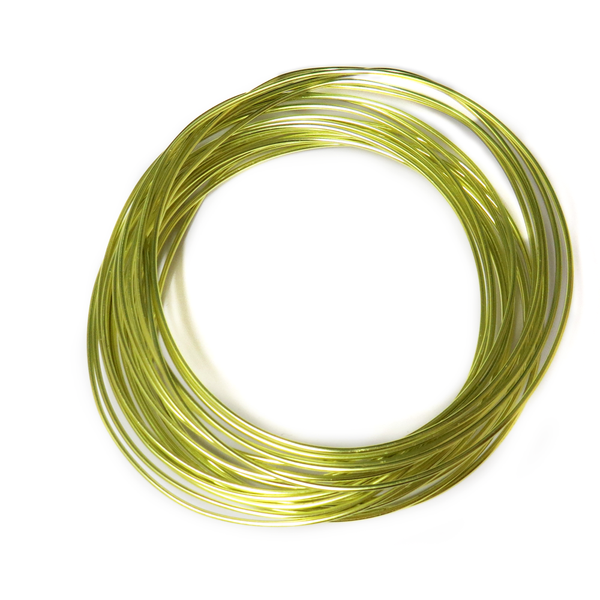Aluminum Wire, Neon Green, 2mm, 5 yard roll; 1 roll