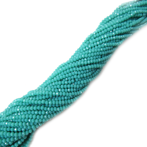 Rondelle, Turquoise, 4mm - 1 strand
