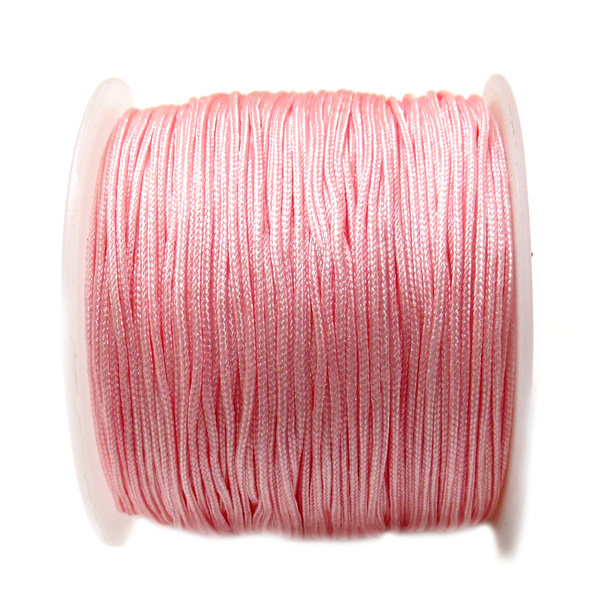 Nylon Cord, 1mm - Light Pink; 60 yards
