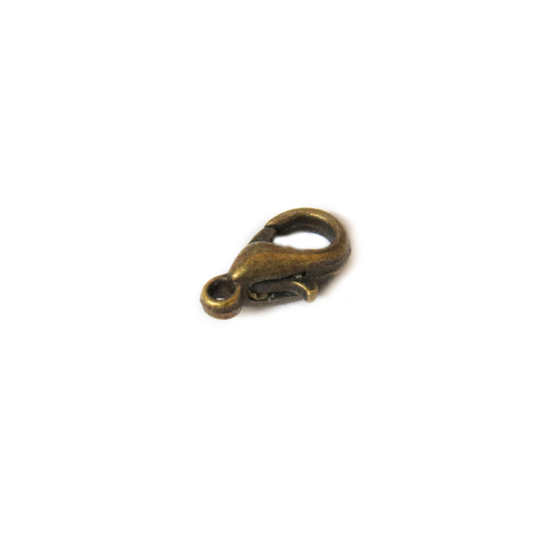 Lobster Claw, Antique Bronze, 10mm; 25 pieces