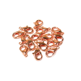 Alloy Lobster Claw, Brass, Rose Gold, 11x6mm - 12 pieces
